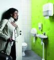 Tork handdoeken dispenser in toiletruimte