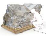 Vacupac aluminium complex voor extreme opslag en transportomstandigheden - voorbeeld op pallet