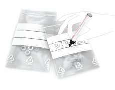 Gripzakjes transparant met witte strook