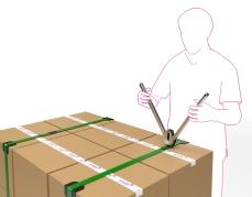 Handmatig span en zegelapparaat voor het vastzetten van omsnoeringsband of verzelband