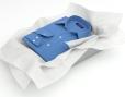 Wit zijdepapier ter bescherming van producten - voorbeeld kleding